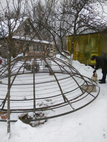 Каркас металлического купола