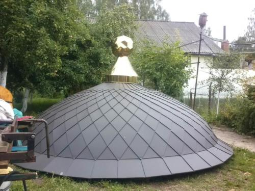 Крыша круглая метало черепица