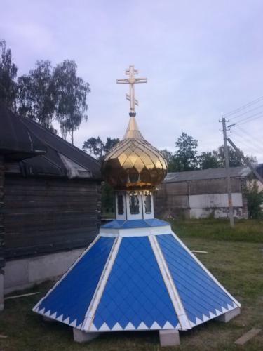 Крест, купол, стакан и крыша комплект