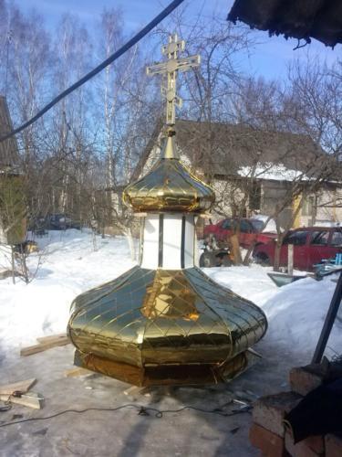 Комплект два купола стакан и крест