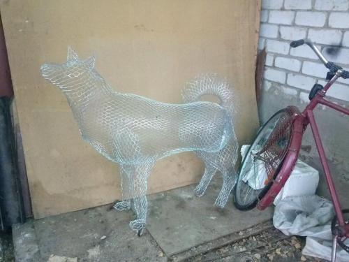 Садовая скульптура Год Собаки2