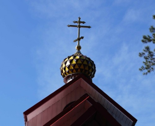 установленный купол шашечкой 2