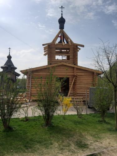 Установка деревянного купола