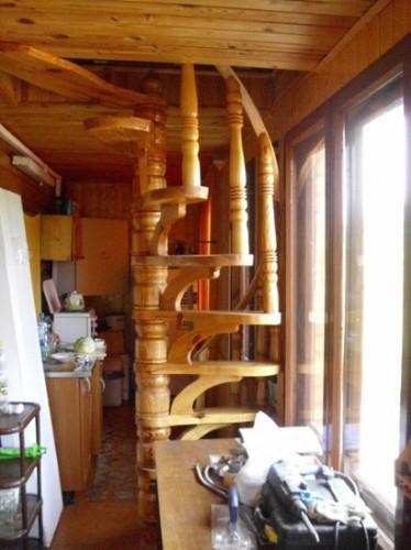 деревянная лестница  №6