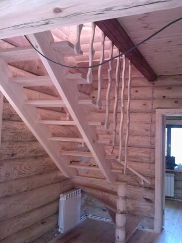 деревянная лестница  №7